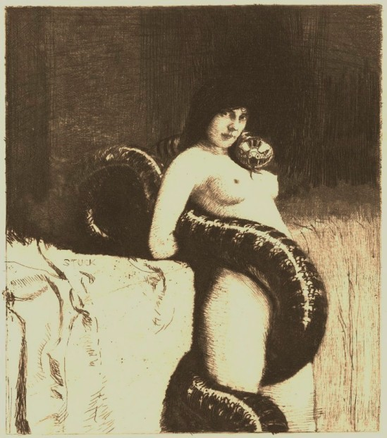 Franz von Stuck. Sensuality 1891. Etching