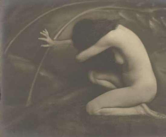 Jacob Merkelbach. Knielend vrouwelijk naakt 1913 - 1942