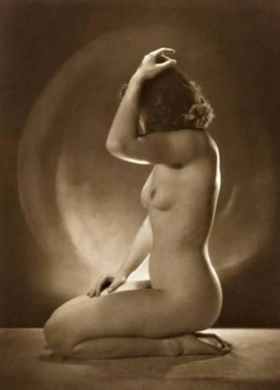 Jacob Merkelbach. Portret van een zittend naakt 1915-1930
