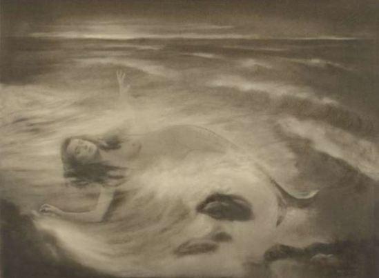 Jacob Merkelbach. Zeemeermin 1920-1940. Carbon print. Via rijkmuseum