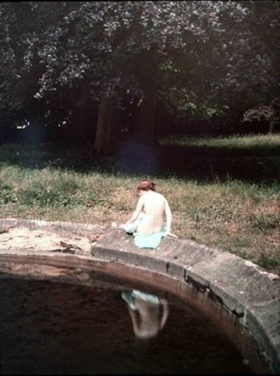 Léon Gimpel. Après le bain 1910. Autochrome ®SFP