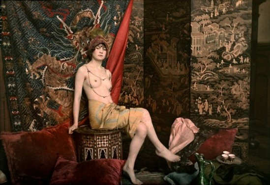 Marcel Meys. Seated nude 1913. Autochrome. Via europeanautochrome