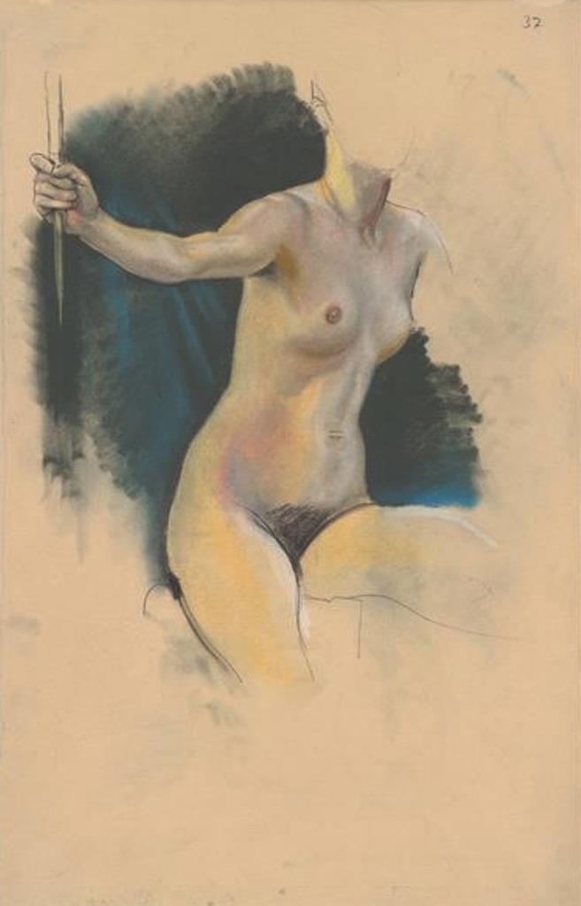 Max Klinger. Weibliche Aktstudie (recto) 1898