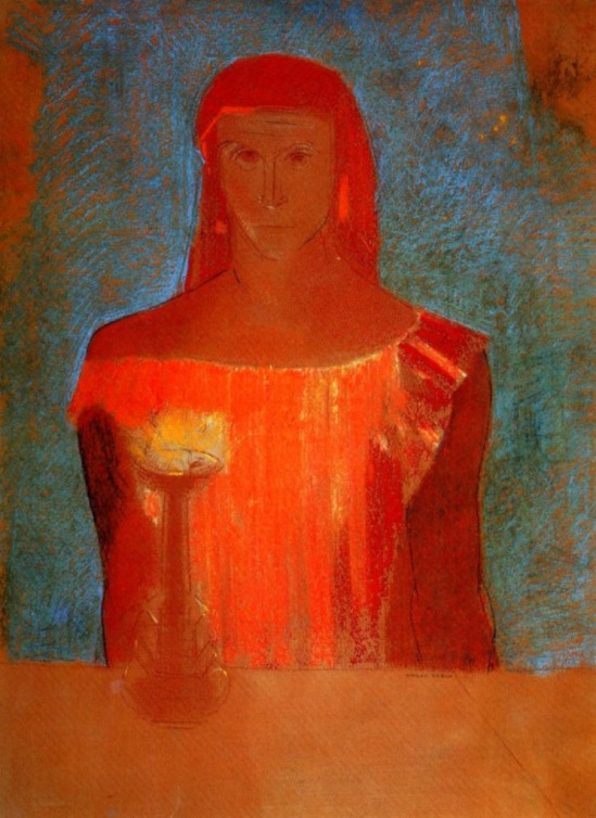 Odilon Redon. Lady Macbeth 1898. Pastel