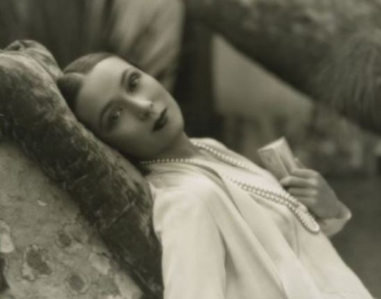 Portrait of the actress Dolores del Rio. Via fanpix