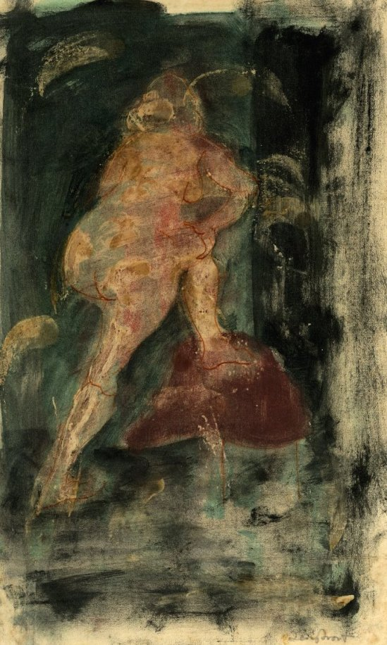 terry-frost-female-nude-1948-1949-colour-monotype