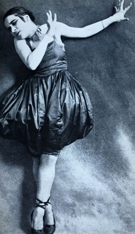 Valeska Gert in Tanz in Orange 1916. Via tanzat