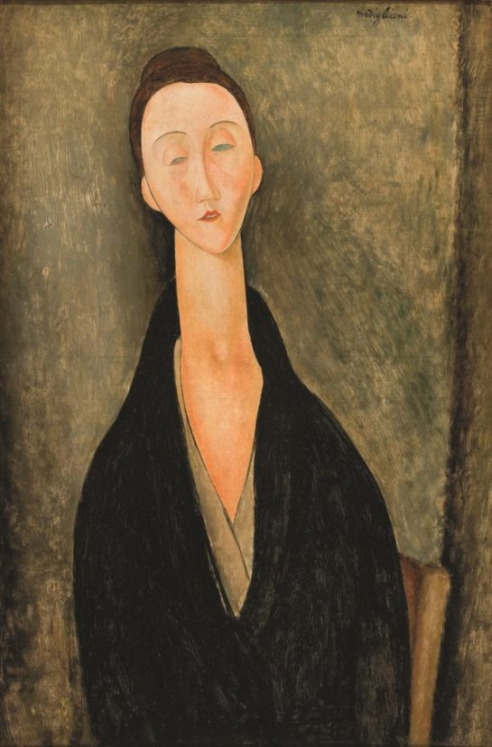 "Amedeo Modigliani Lunia Czechowska, 1919 Oil on canvas, 31Ω x 20Ω in. (80 x 52 cm) Museu de Arte de S""o Paulo"