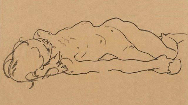 Egon Schiele. Femme nue couchée 1918
